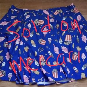 ModCloth Skater Skirt in Snacks